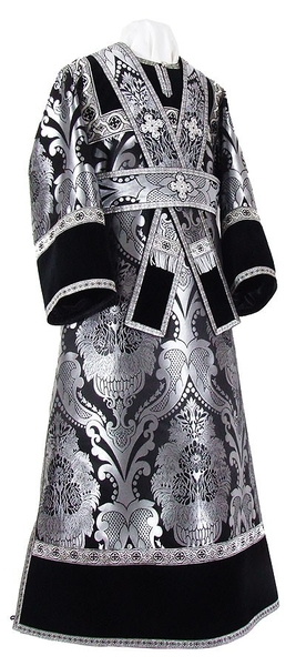 Subdeacon vestments - metallic brocade BG3 (black-silver)