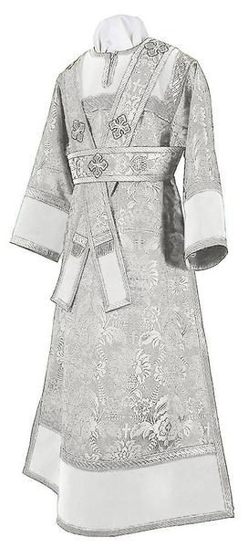 Subdeacon vestments - metallic brocade BG3 (white-silver)