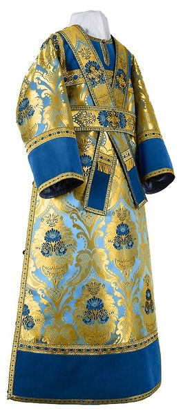 Subdeacon vestments - metallic brocade BG4 (blue-gold)