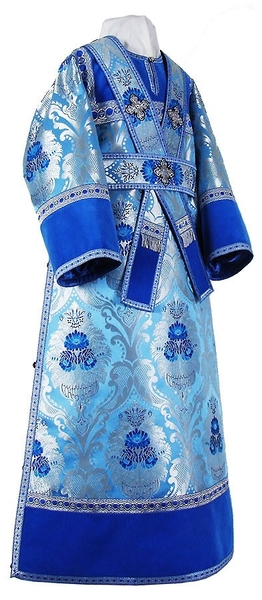 Subdeacon vestments - metallic brocade BG4 (blue-silver)
