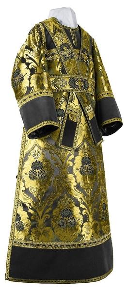 Subdeacon vestments - metallic brocade BG4 (black-gold)