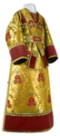 Subdeacon vestments - metallic brocade BG4 (yellow-claret-gold)