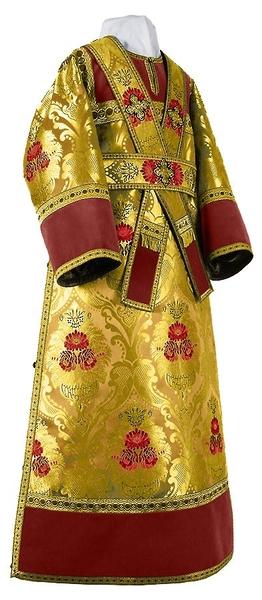 Subdeacon vestments - metallic brocade BG4 (yellow-gold)