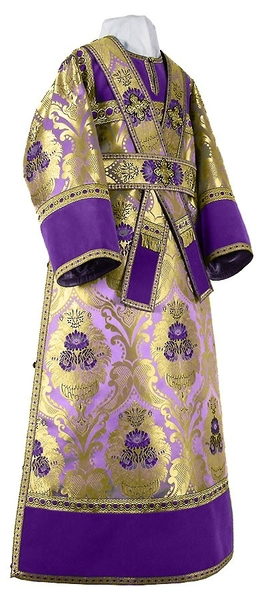 Subdeacon vestments - metallic brocade BG4 (violet-gold)