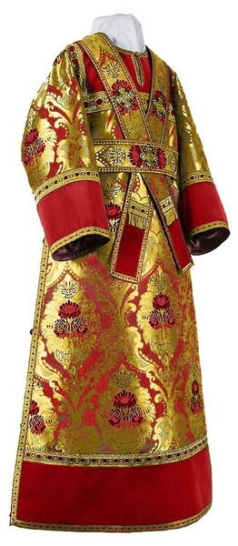 Subdeacon vestments - metallic brocade BG4 (red-gold)