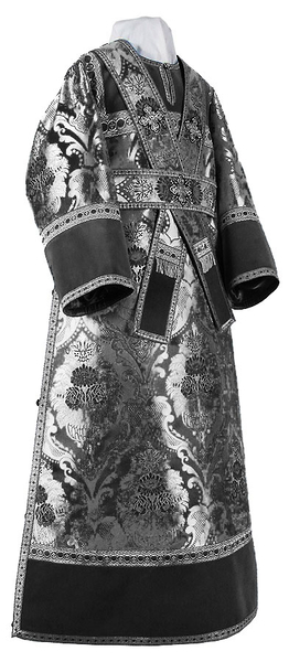Subdeacon vestments - metallic brocade BG4 (black-silver)