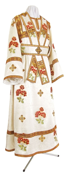 Subdeacon vestments - metallic brocade BG4 (white-gold)