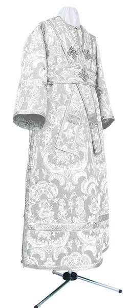 Subdeacon vestments - metallic brocade BG4 (white-silver)