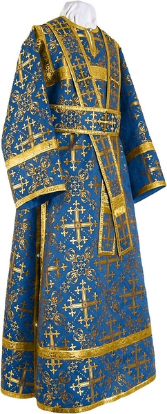 Subdeacon vestments - rayon brocade S2 (blue-gold)