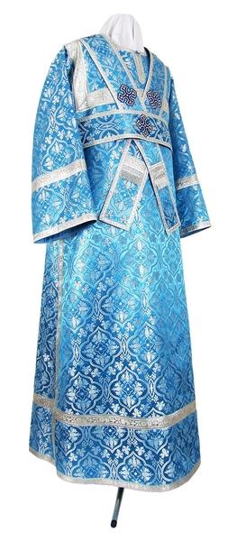 Subdeacon vestments - rayon brocade S2 (blue-silver)