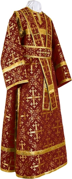 Subdeacon vestments - rayon brocade S2 (claret-gold)