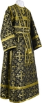 Subdeacon vestments - rayon brocade S2 (black-gold)