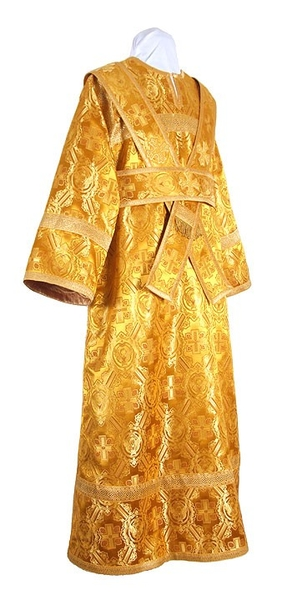 Subdeacon vestments - rayon brocade S2 (yellow-claret-gold)