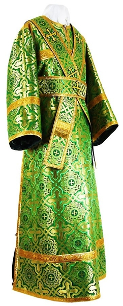 Subdeacon vestments - rayon brocade S2 (green-gold)