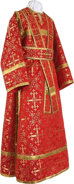 Subdeacon vestments - rayon brocade S2 (red-gold)