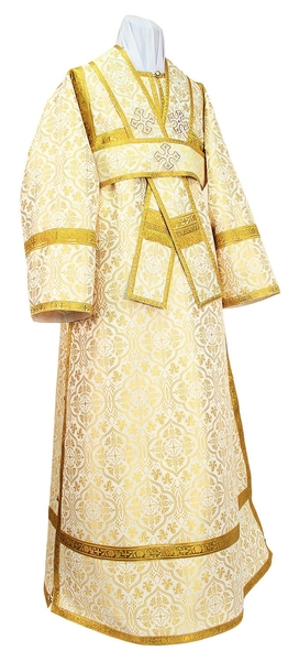 Subdeacon vestments - rayon brocade S2 (white-gold)