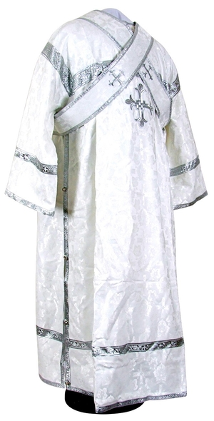 Subdeacon vestments - rayon brocade S2 (white-silver)