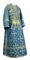Subdeacon vestments - Soloun rayon brocade S3 (blue-gold), Standard design