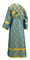 Subdeacon vestments - Ostrozh rayon brocade S3 (blue-gold) back, Standard design