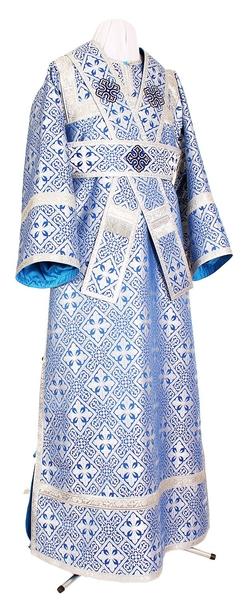 Subdeacon vestments - rayon brocade S3 (blue-silver)