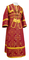 Subdeacon vestments - Alania rayon brocade S3 (claret-gold), Economy design
