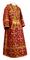 Subdeacon vestments - Soloun rayon brocade S3 (claret-gold), Standard design