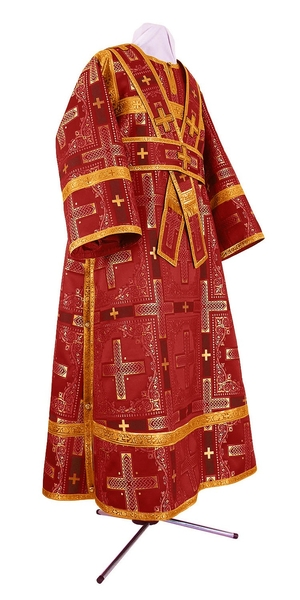 Subdeacon vestments - rayon brocade S3 (claret-gold)
