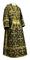 Subdeacon vestments - Soloun rayon brocade S3 (black-gold), Standard design