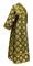 Subdeacon vestments - Myra Lycea rayon brocade S3 (black-gold) back, Standard design