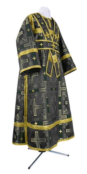 Subdeacon vestments - rayon brocade S3 (black-gold)