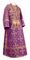 Subdeacon vestments - Soloun rayon brocade S3 (violet-gold), Standard design