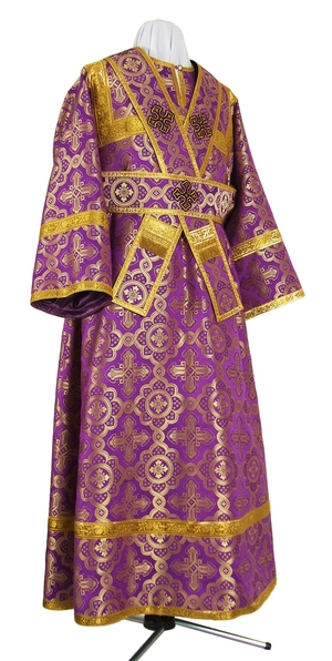 Subdeacon vestments - rayon brocade S3 (violet-gold)