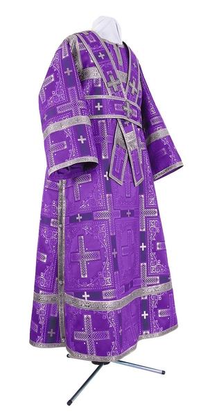 Subdeacon vestments - rayon brocade S3 (violet-silver)