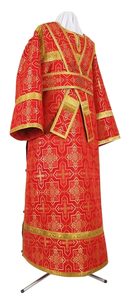 Subdeacon vestments - rayon brocade S3 (red-gold)