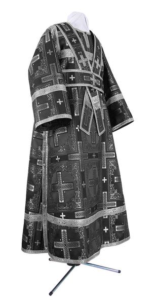 Subdeacon vestments - rayon brocade S3 (black-silver)