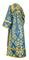 Subdeacon vestments - Sloutsk rayon brocade S4 (blue-gold) back, Standard design