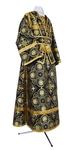 Subdeacon vestments - rayon brocade S4 (black-gold)