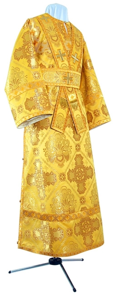 Subdeacon vestments - rayon brocade S4 (yellow-gold)