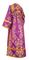 Subdeacon vestments - Sloutsk rayon brocade S4 (violet-gold) back, Standard design