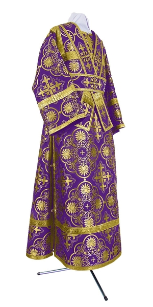 Subdeacon vestments - rayon brocade S4 (violet-gold)