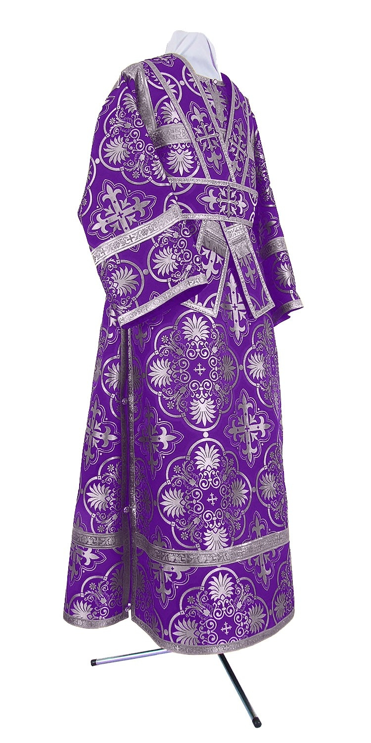 Orthodox Church liturgical Subdeacon clergy vestments (violet-silver