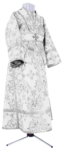 Subdeacon vestments - rayon brocade S4 (white-silver)