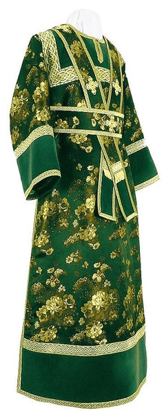 Subdeacon vestments - rayon Chinese brocade (green-gold)