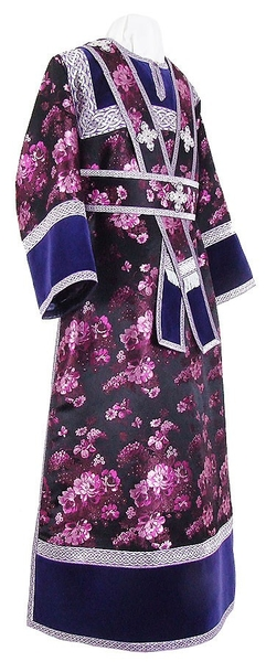 Subdeacon vestments - rayon Chinese brocade (violet-silver)