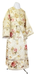 Subdeacon vestments - rayon Chinese brocade (white-gold)