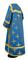 Clergy sticharion - Eufrosinia metallic brocade B (blue-gold), back, Standard design
