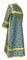 Clergy sticharion - Cappadocia metallic brocade B (blue-gold), back, Economy design