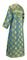 Clergy sticharion - Myra Lycea metallic brocade B (blue-gold), back, Standard design