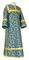 Clergy sticharion - Cappadocia metallic brocade B (blue-gold), Economy design