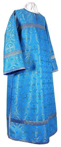 Clergy stikharion - metallic brocade B (blue-gold)